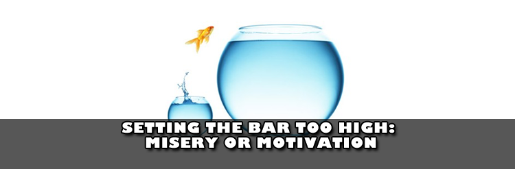 Setting the bar too high: Misery or Motivation [reflection/blog]